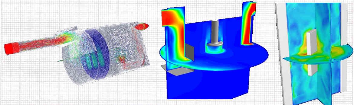 Slider numerical flow simulation CFD